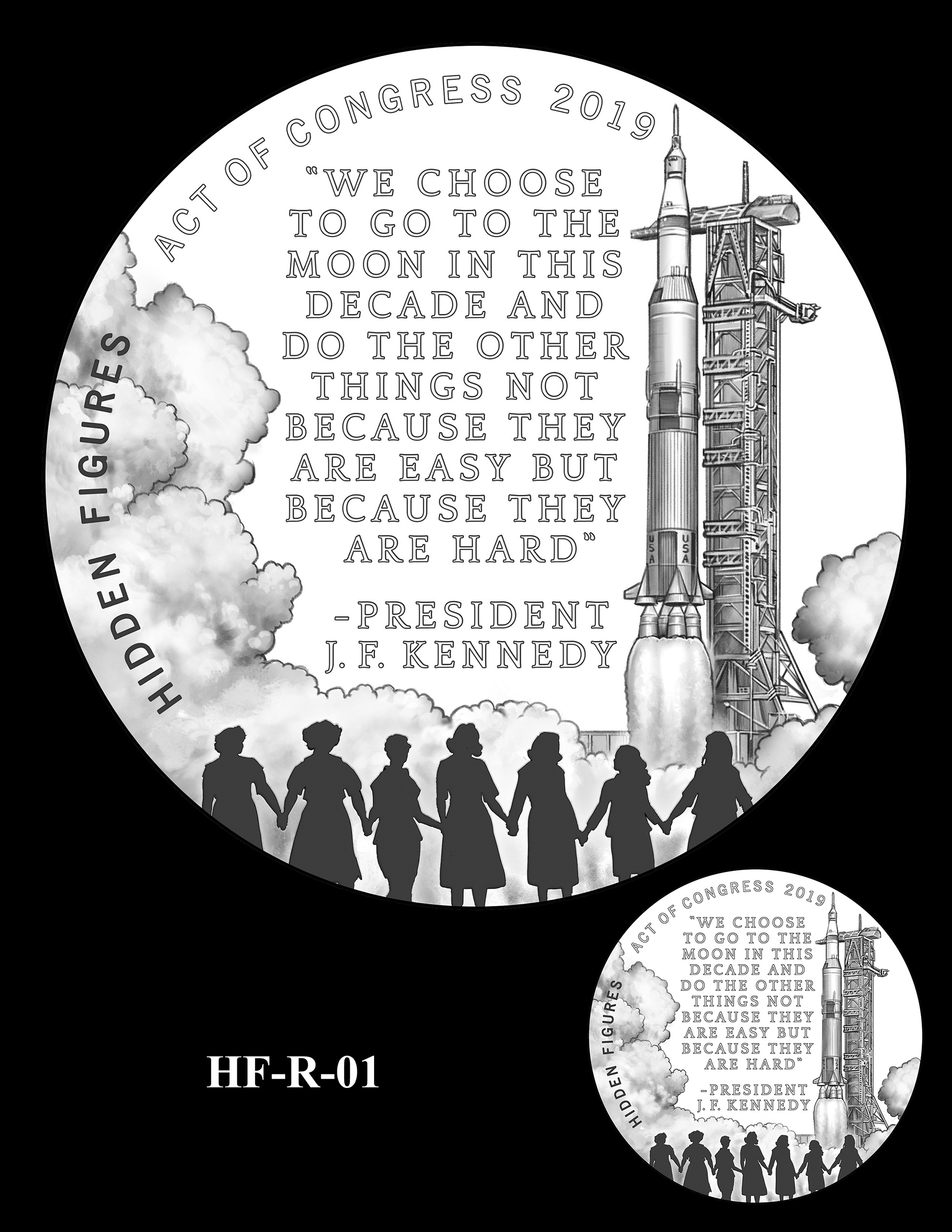 HF-R-01 -- Hidden Figures Group Congressional Gold Medal