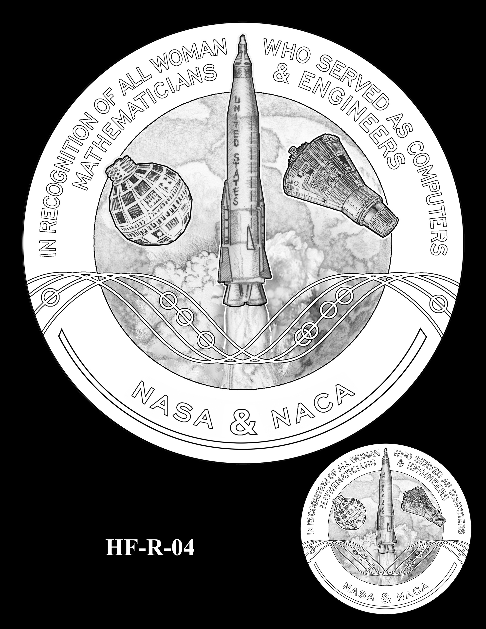HF-R-04 -- Hidden Figures Group Congressional Gold Medal