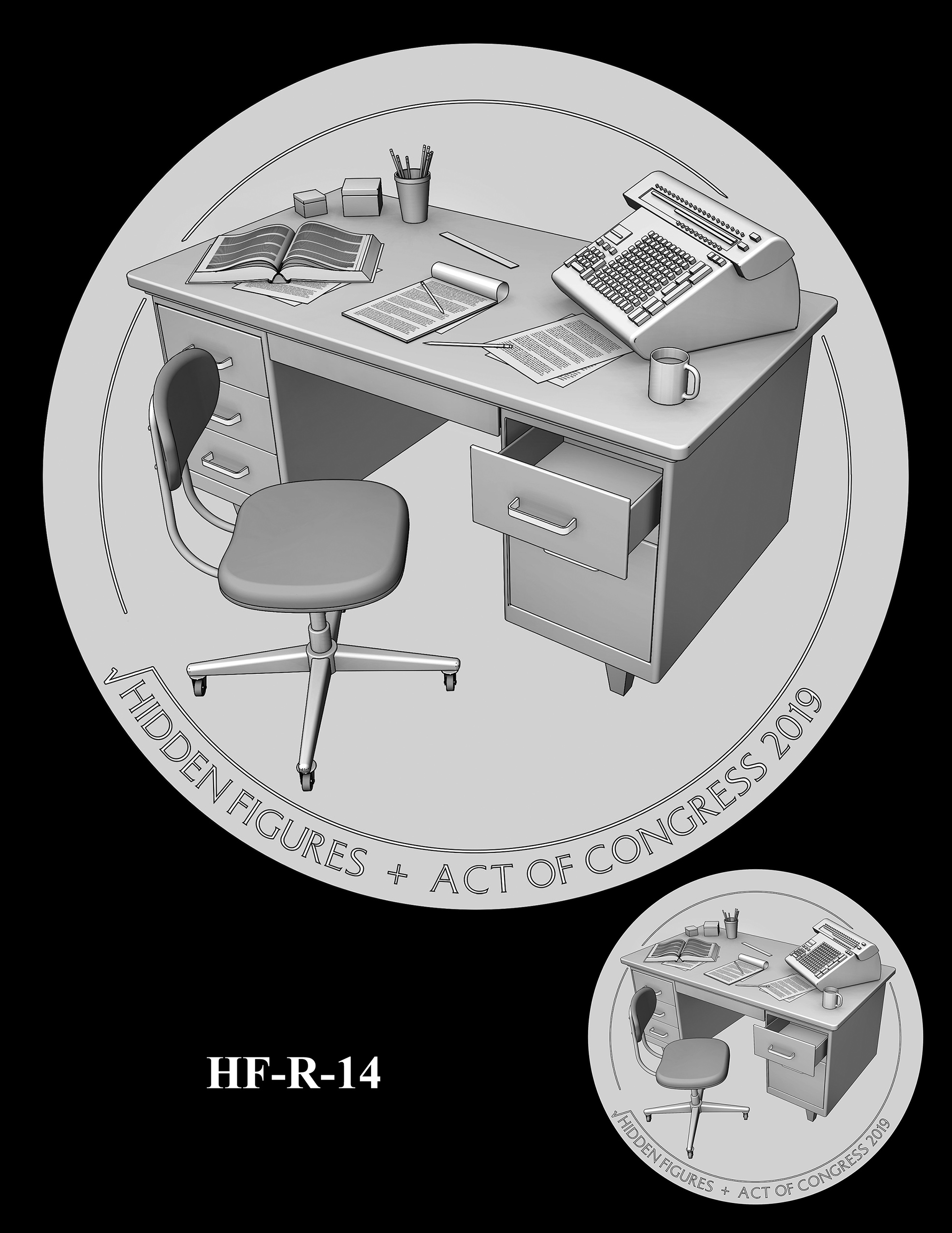 HF-R-14 -- Hidden Figures Group Congressional Gold Medal