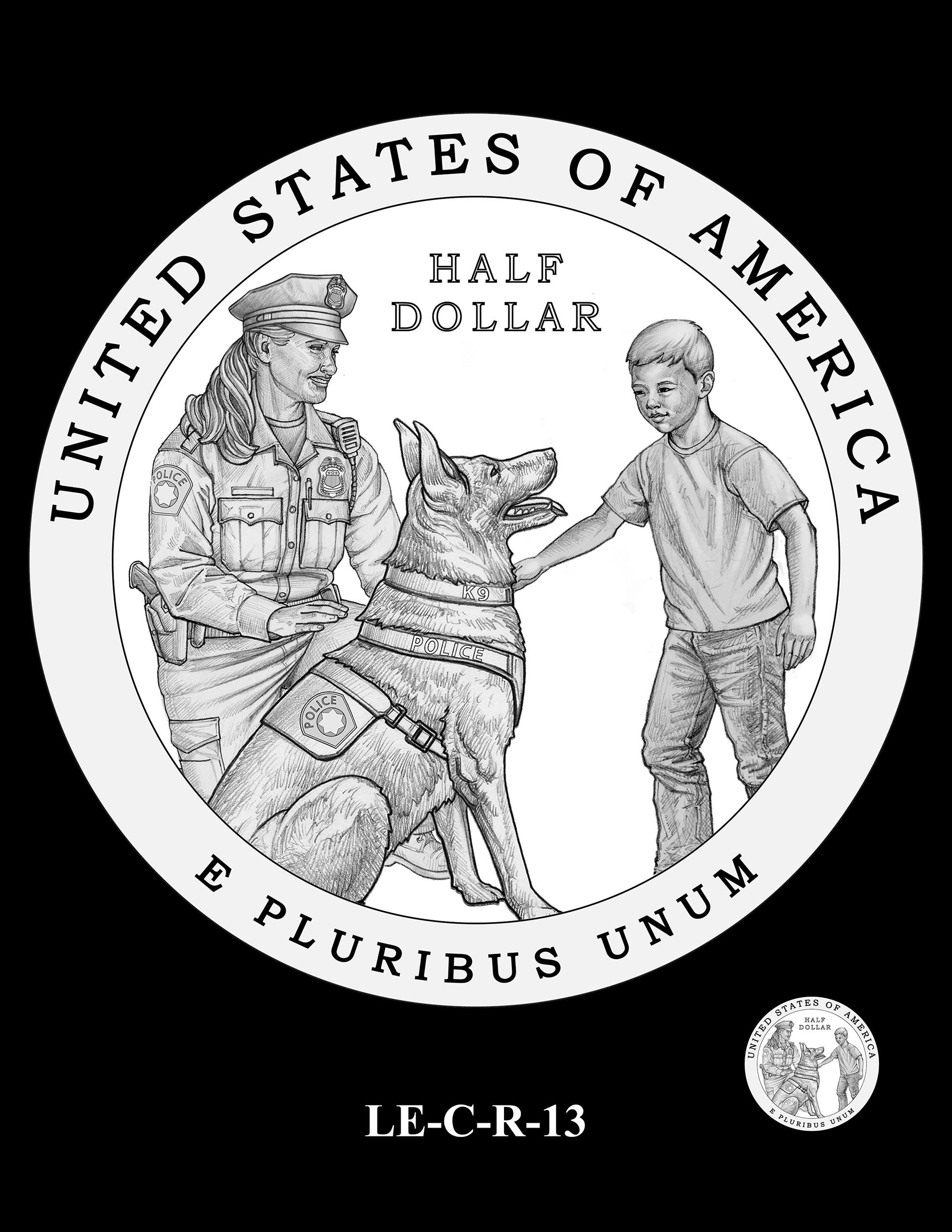 LE-C-R-13 -- National Law Enforcement Museum Commemorative Coin Program
