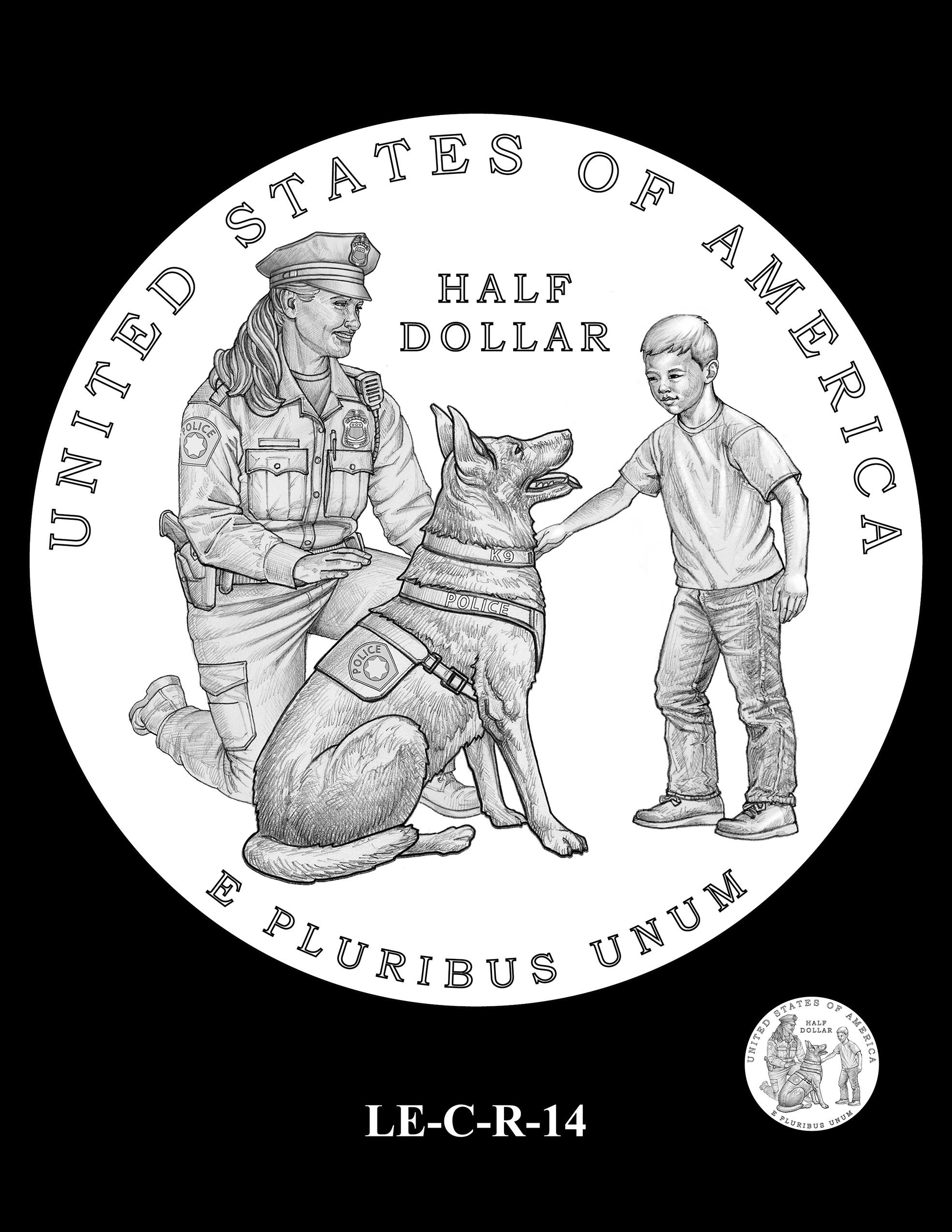 LE-C-R-14 -- National Law Enforcement Museum Commemorative Coin Program