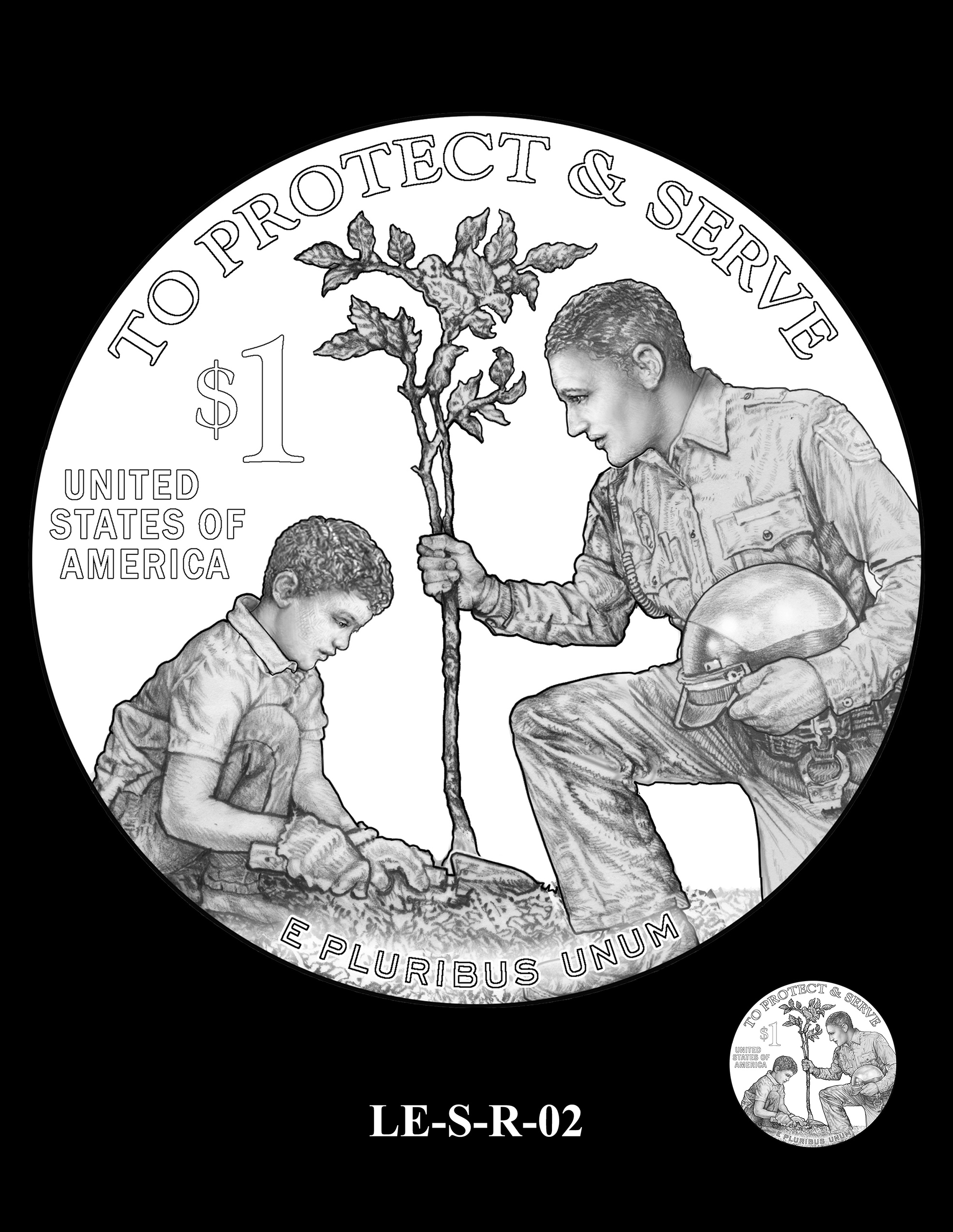 LE-S-R-02 -- National Law Enforcement Museum Commemorative Coin Program