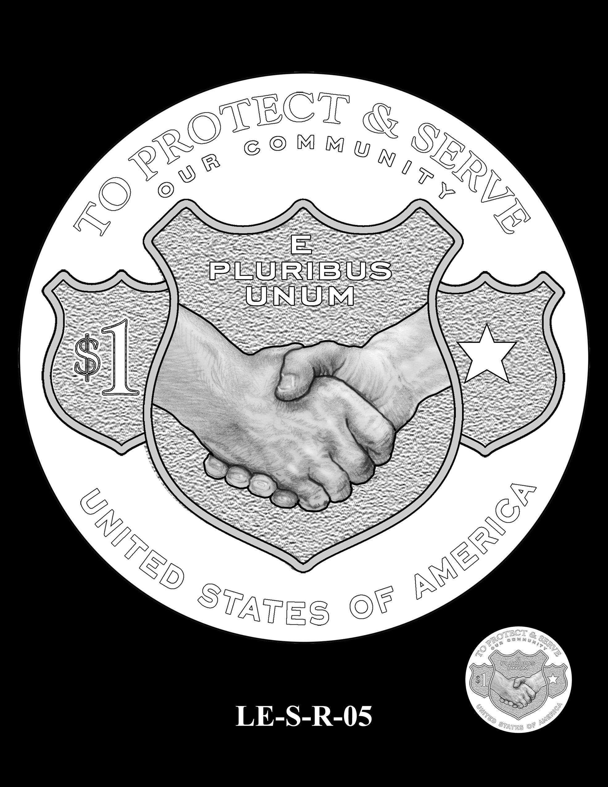 LE-S-R-05 -- National Law Enforcement Museum Commemorative Coin Program