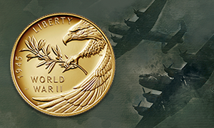 end of world war ii gold coin feature