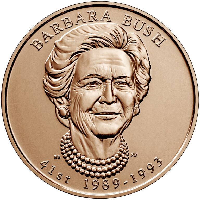 2020 First Spouse Bronze Medal Barbara Bush Obverse