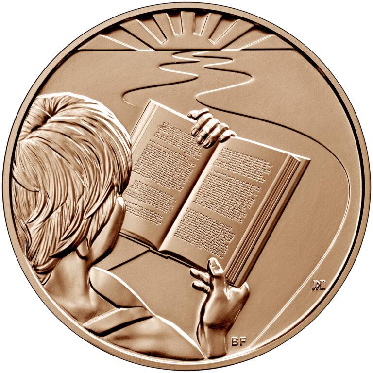 2020 First Spouse Bronze Medal Barbara Bush Reverse