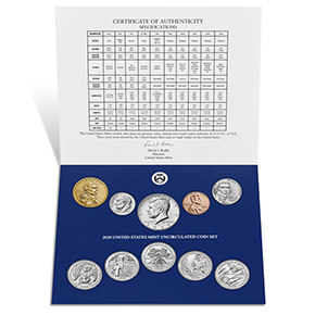2020 U.S. Mint Uncirculated Coin Set
