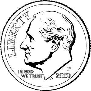 2020 dime obverse coloring page icon