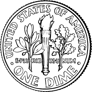 2020 dime reverse coloring page icon