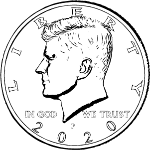 2020 half dollar obverse coloring page icon