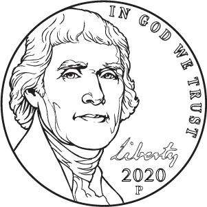 2020 nickel obverse coloring page icon
