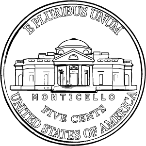 2020 nickel reverse coloring page icon