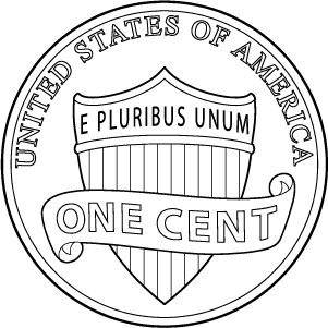 2020 penny reverse coloring page icon