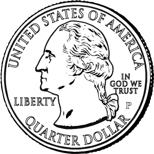 2021 quarter obverse coloring page icon
