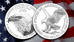 american eagle gold and silver coin reverse designs