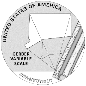 American Innovation Connecticut Reverse Coloring Page Icon