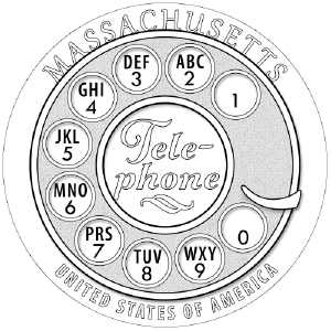 American Innovation Massachussetts Reverse Coloring Page Icon