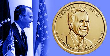 George H.W. Bush Presidential $1 Coin feature