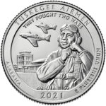 2021 America the Beautiful Quarters Coin Tuskegee Airmen Alabama Uncirculated Reverse