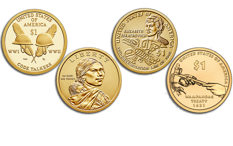 native american $1 coins