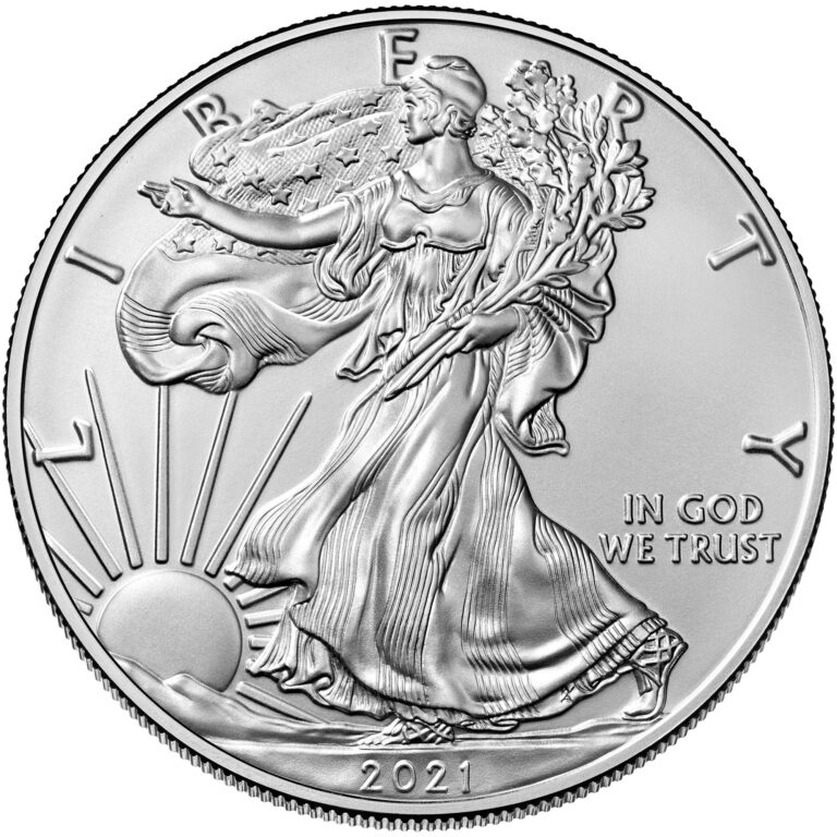 2021 American Eagle Silver One Ounce Bullion Coin Obverse Old Design