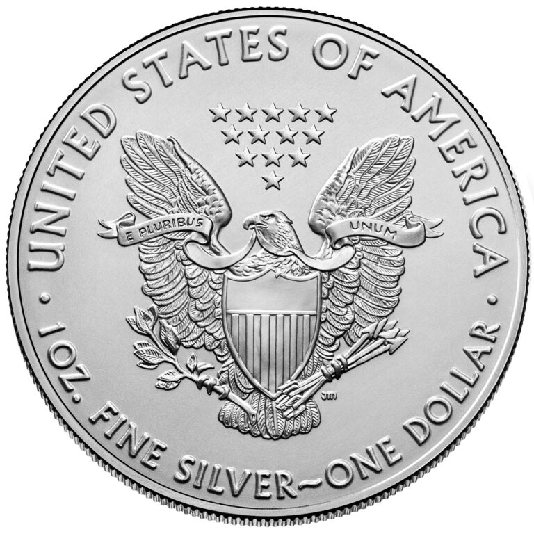 2021 American Eagle Silver One Ounce Bullion Coin Reverse Old Design