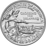 2021 General George Washington Crossing the Delaware Quarter Uncirculated Reverse