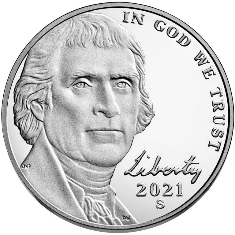 2021 Jefferson Nickel Proof Obverse San Francisco