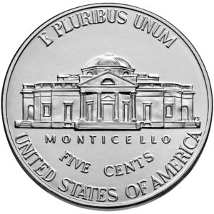 2021 Jefferson Nickel Uncirculated Reverse