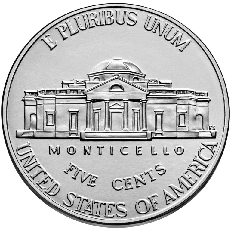 2021 Jefferson Nickel Uncirculated Reverse
