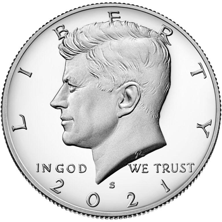 2021 Kennedy Half Dollar Proof Obverse San Francisco