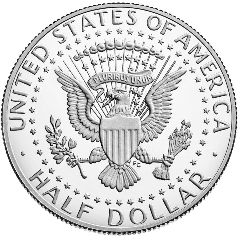 2021 Kennedy Half Dollar Proof Reverse