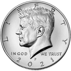 2021 Kennedy Half Dollar Uncirculated Obverse Philadelphia