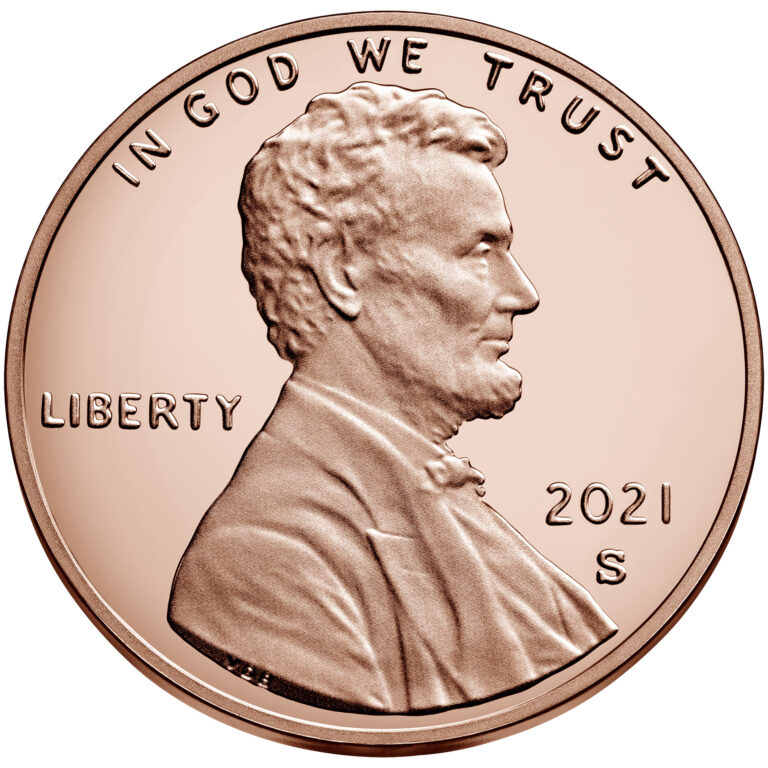 2021 Lincoln Penny Proof Obverse San Francisco