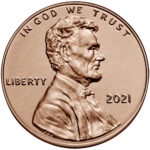 2021 Lincoln Penny Uncirculated Obverse Philadelphia
