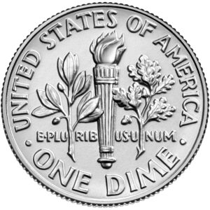2021 Roosevelt Dime Uncirculated Reverse