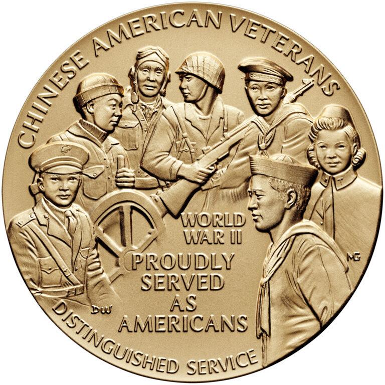 Chinese American Veterans of World War II Bronze Medal Three Inch Obverse