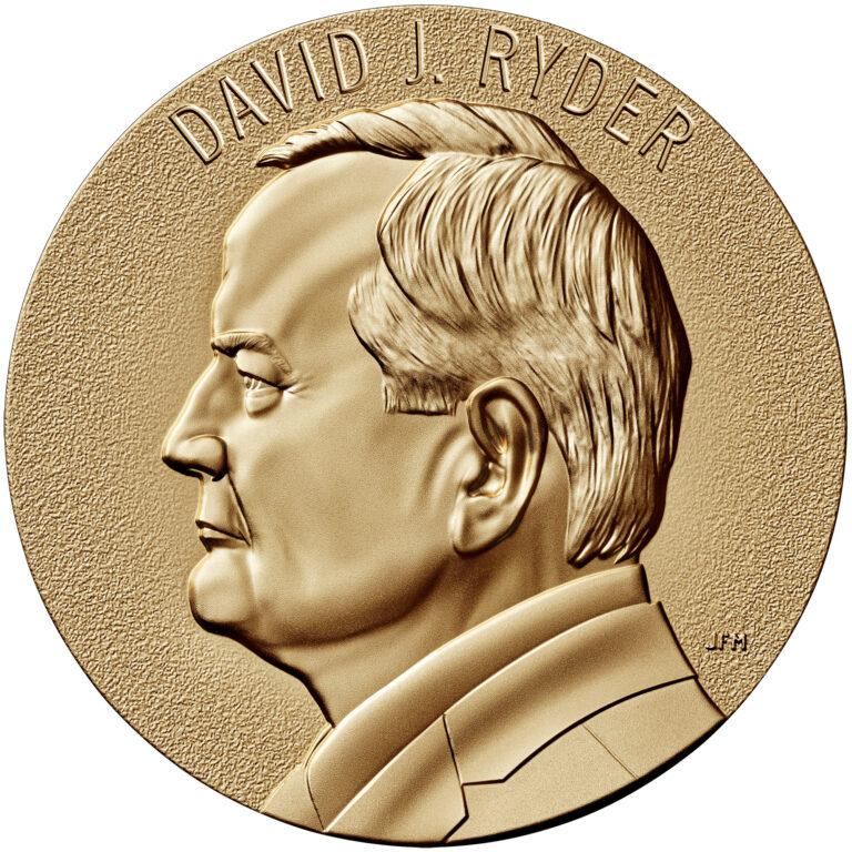 David Ryder Director of the Mint Bronze Medal Second Term Obverse