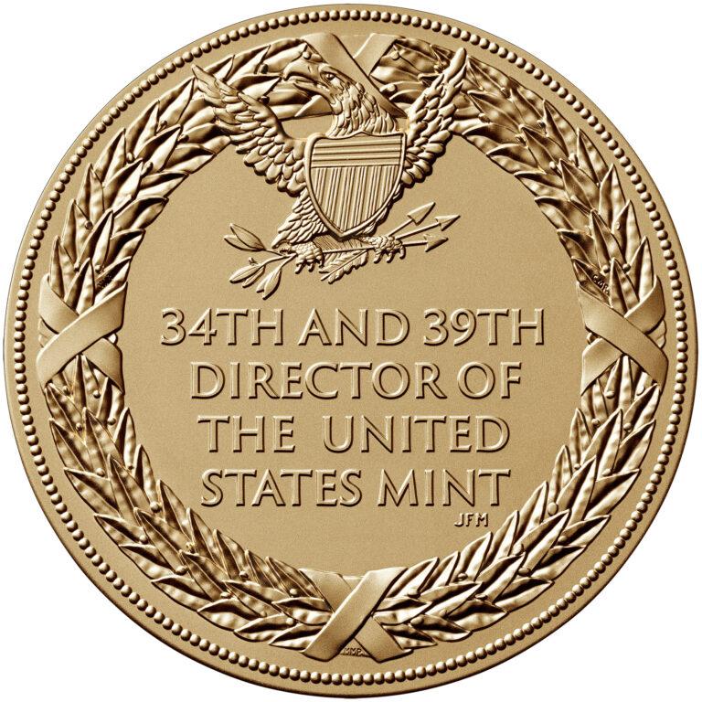 David Ryder Director of the Mint Bronze Medal Second Term Reverse