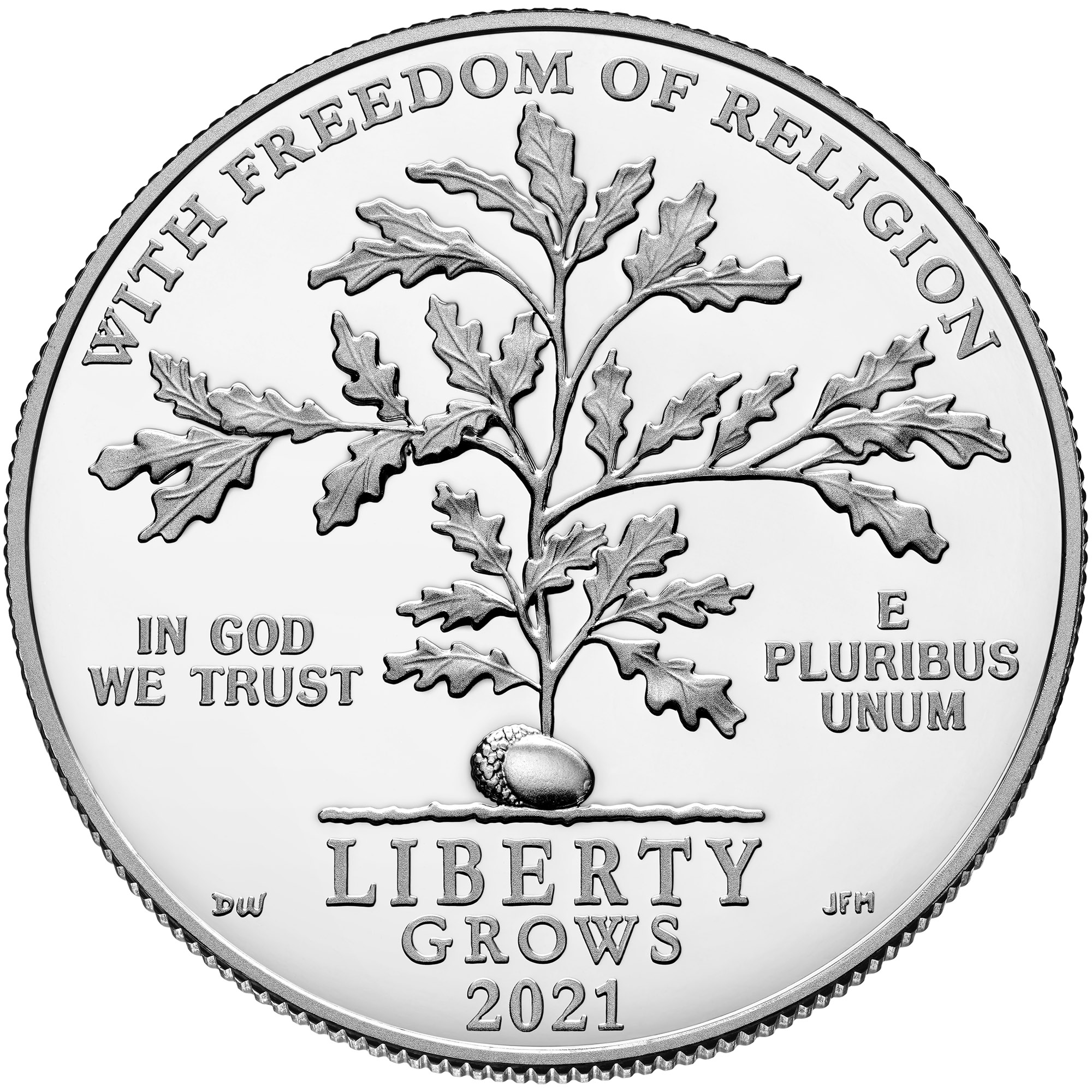 2021 American Eagle Platinum Proof Coin Obverse