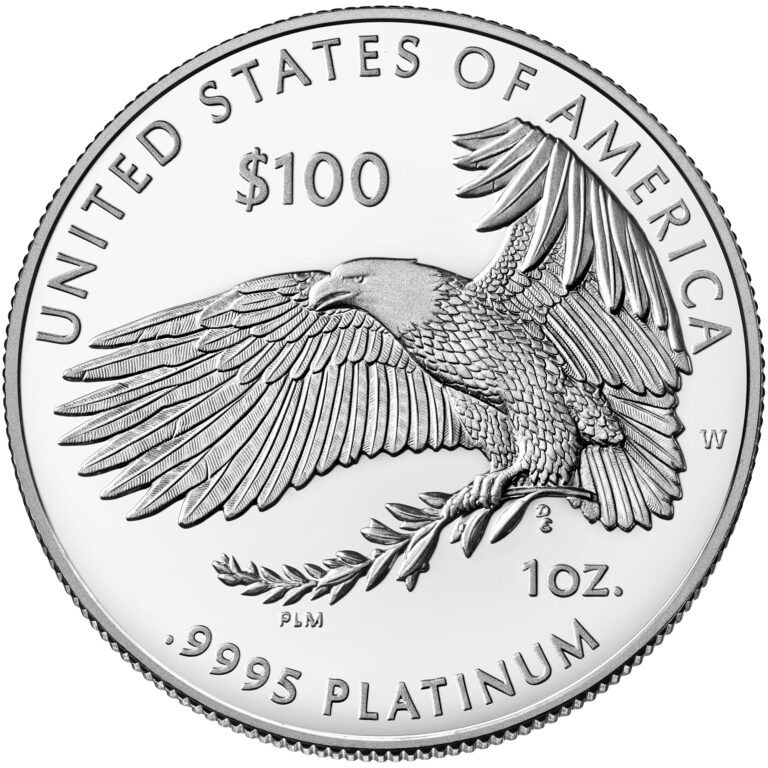 2021 American Eagle Platinum Proof Coin Reverse