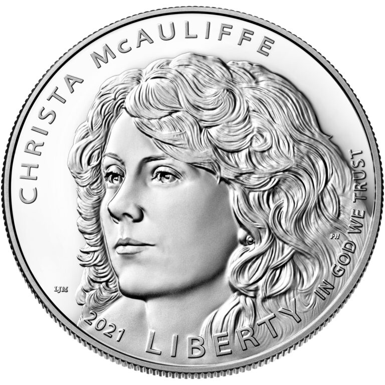 2021 Christa McAuliffe Commemorative Coin Proof Obverse