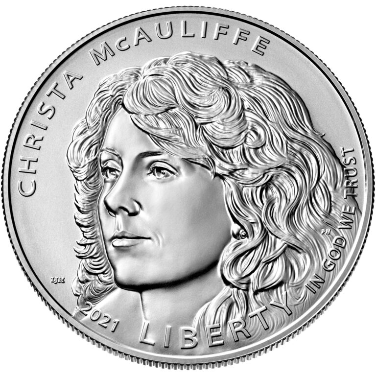2021 Christa McAuliffe Commemorative Coin Uncirculated Obverse