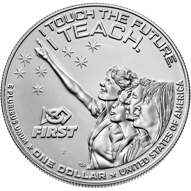 2021 Christa McAuliffe Commemorative Coin Uncirculated Reverse