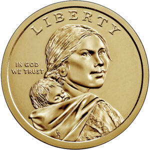 2021 Native American One Dollar Uncirculated Coin Obverse