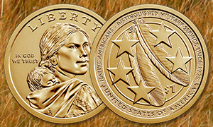 2021 Native American $1 Coin feature