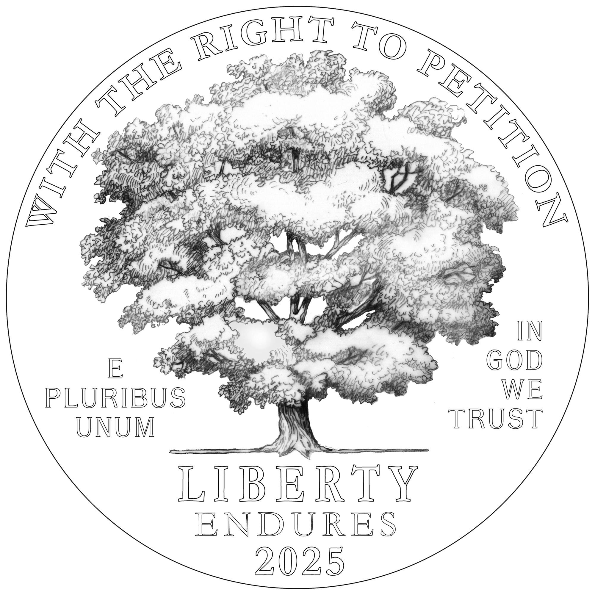 2025 American Eagle Platinum Proof Coin Line Art Obverse