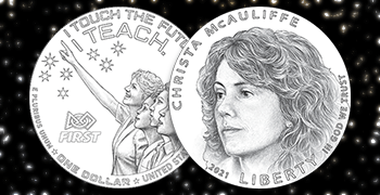 Christa McAuliffe Silver Dollar feature