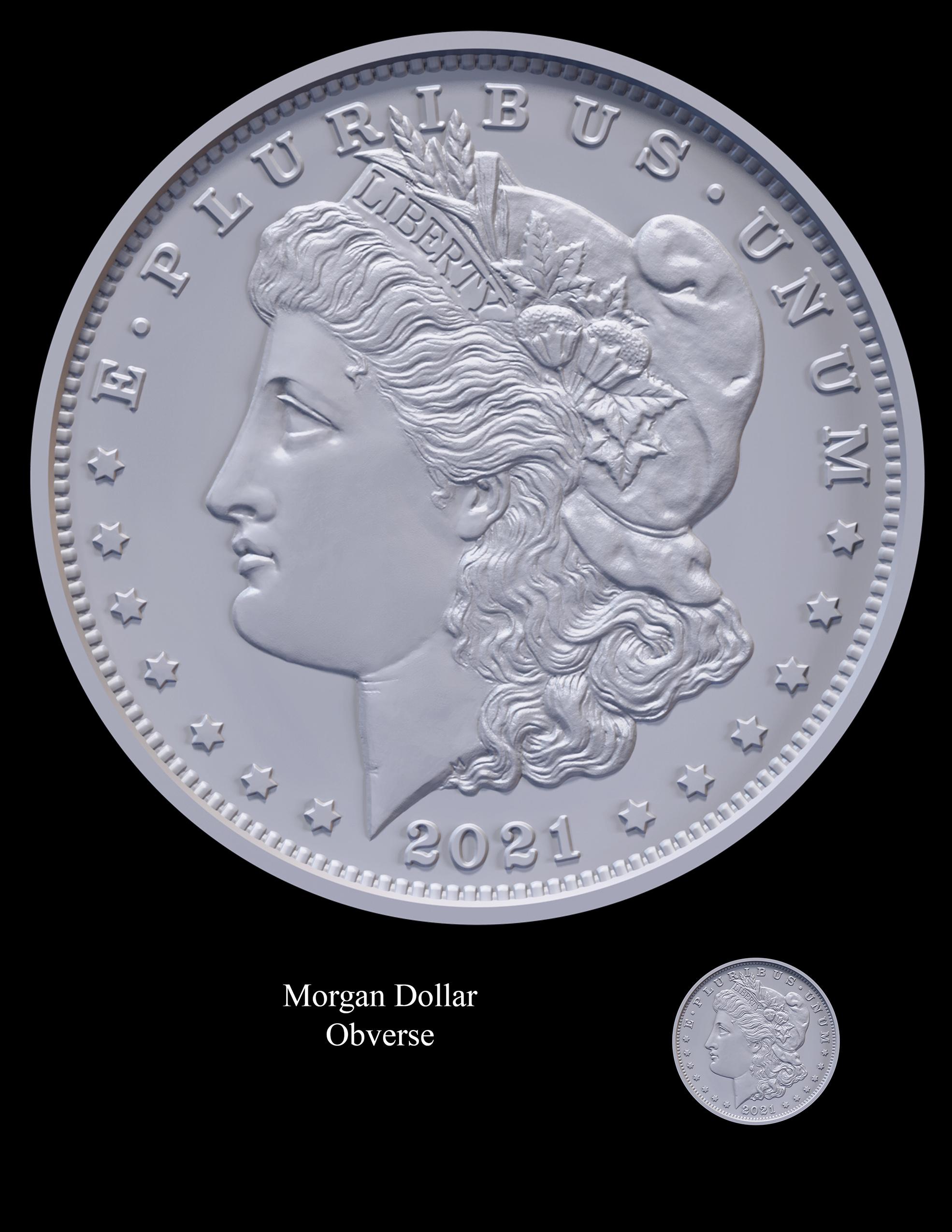 Morgan Obverse -- 2021 Morgan Dollar