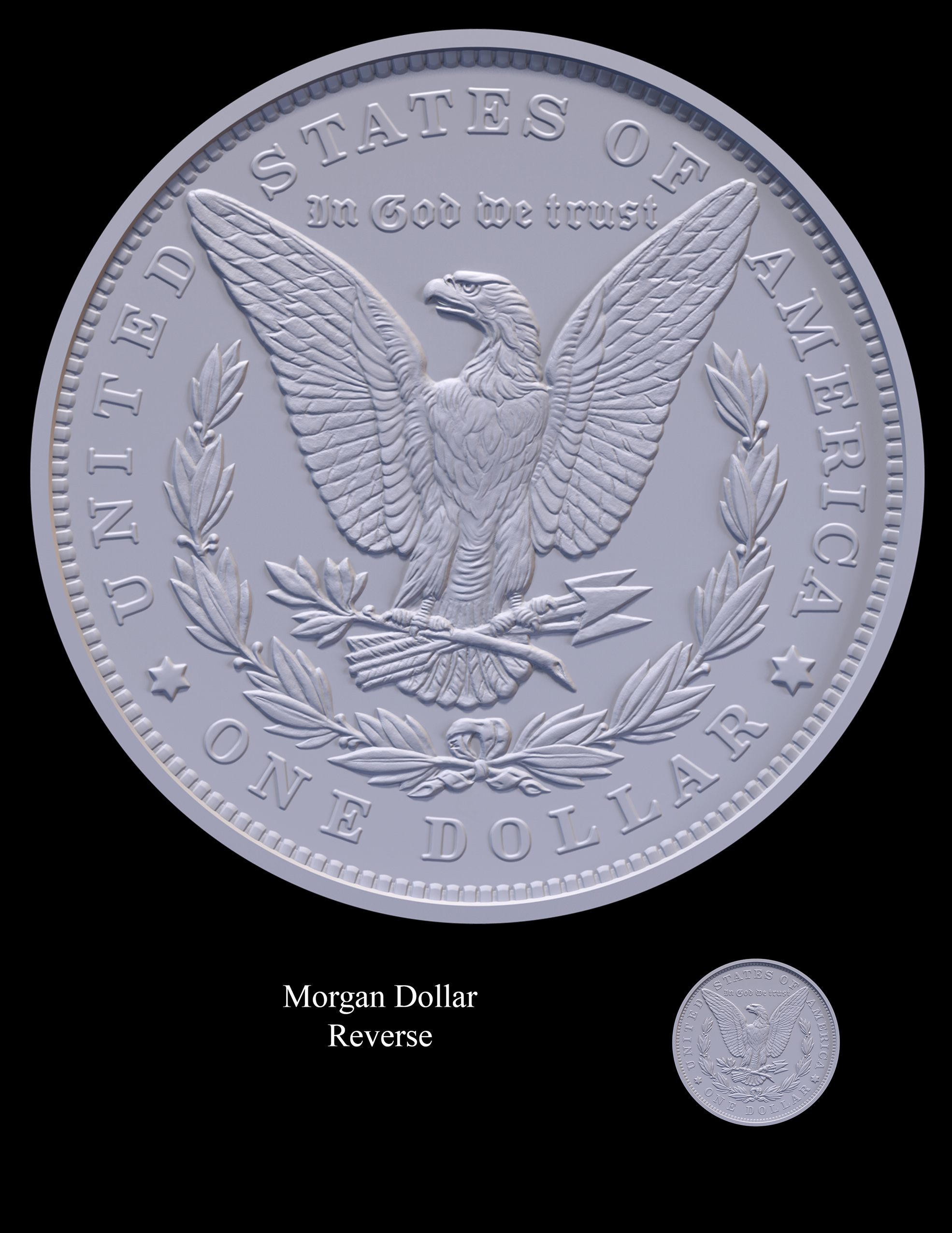 Morgan Reverse -- 2021 Morgan Dollar